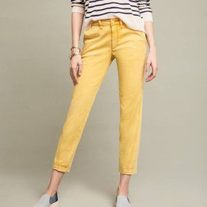 Anthropologie Relaxed Yellow Chino Pants